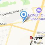 Ярославское художественное училище на карте Ярославля
