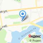 У Мукомольного на карте Ярославля