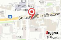 Схема проезда до компании IZET в Ярославле