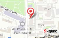 Схема проезда до компании Sweet time в Ярославле