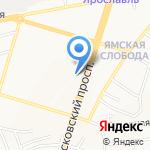 Ярославское высшее военное училище противовоздушной обороны на карте Ярославля