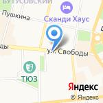 Бастет на карте Ярославля
