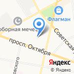 Золотая рыбка на карте Ярославля