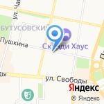 Mодерн на карте Ярославля