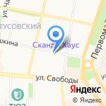 У камина на карте Ярославля