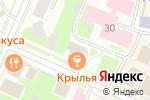 Схема проезда до компании Крылья в Вологде