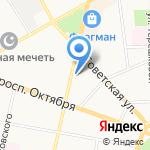 Смайл на карте Ярославля