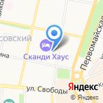 Знаменские ворота на карте Ярославля