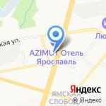 Аист на карте Ярославля