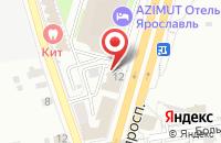 Схема проезда до компании Тензор в Ярославле