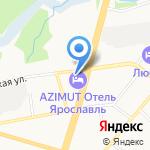 Святой Георгий на карте Ярославля