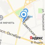 Милана на карте Ярославля