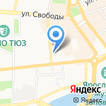 Музей занимательных наук Эйнштейна на карте Ярославля