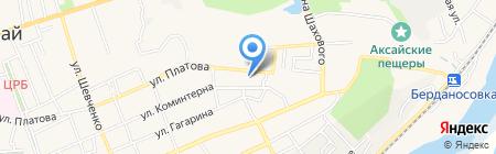 Почтовое отделение №3 на карте Аксая