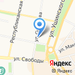 Робинзон на карте Ярославля