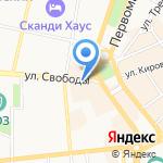 Лампада на карте Ярославля