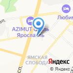 Купеческая слобода на карте Ярославля