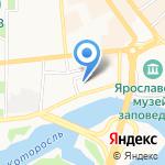 Юбилейная на карте Ярославля