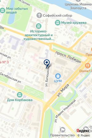ВОЛОГОДСКАЯ ГОРОДСКАЯ КОЛЛЕГИЯ АДВОКАТОВ на карте Вологды