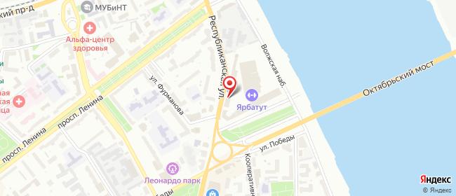 Карта расположения пункта доставки Билайн в городе Ярославль