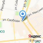 Парадиз на карте Ярославля