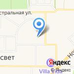 Рассветовская средняя общеобразовательная школа Аксайского района на карте Рассвета