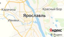 Гостиницы города Ярославль на карте
