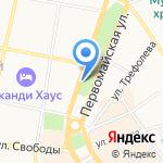 Сквер 20/10 на карте Ярославля