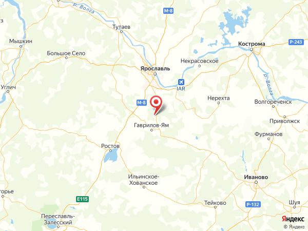 деревня Даниловка на карте