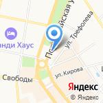 Континент на карте Ярославля