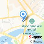Ярославль-Пуатье на карте Ярославля
