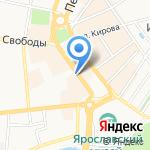 Бутерброд на карте Ярославля