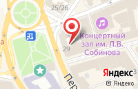 Схема проезда до компании Билайн в Ярославле