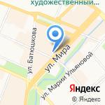 Милена на карте Вологды