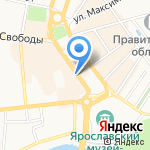 Ярославль на карте Ярославля