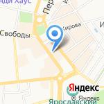 Ярнико на карте Ярославля