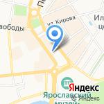 Обедовъ на карте Ярославля