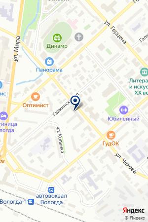 ПТФ БАРИОН на карте Вологды