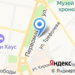 Казанский женский монастырь на карте Ярославля