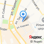Соображариум на карте Ярославля