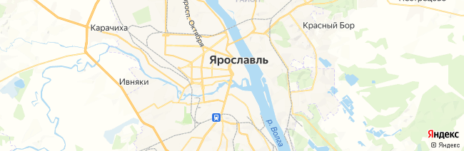 Ярославль на карте