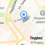 Храм Сретения Господня на карте Ярославля