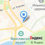 Художник на карте Ярославля