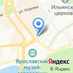 Центральная аптека на карте Ярославля