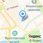 Елисейские поля на карте Ярославля