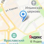Ярославский печатный салон на карте Ярославля