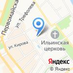 Глазунов и Семенов на карте Ярославля