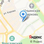 Зимний сад на карте Ярославля