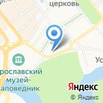 Михайло-Архангельский храм на карте Ярославля