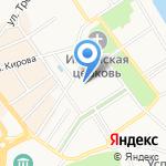 Серенада на карте Ярославля